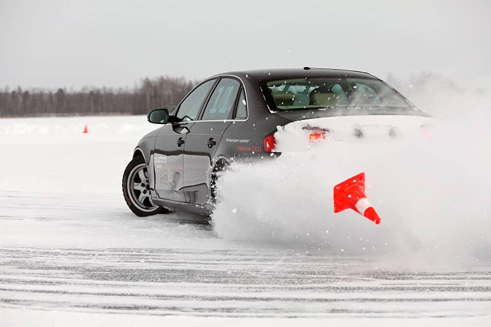 Вождение переднеприводного автомобиля зимой
